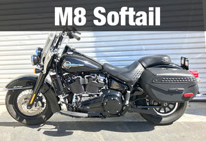 Harley Davidson Softail Milwaukee 8 2018-Current 3.0 Dual Fan Assisted Side Mount on Down Tube Oil Cooler