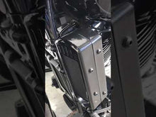 Load and play video in Gallery viewer, Softail Milwaukee 8 2018-Current 3.0 Dual Fan Assisted Side Mount on Down Tube Oil Cooler