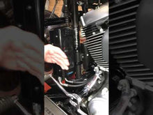 Load and play video in Gallery viewer, Softail 1985-2017 3.0 Dual Fan Assisted Side Mount on Down Tube Oil Cooler
