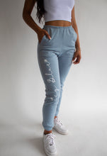 Load image into Gallery viewer, Icy Blue Sweatpants