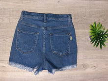Load image into Gallery viewer, Hi Waisted Denim Shorts