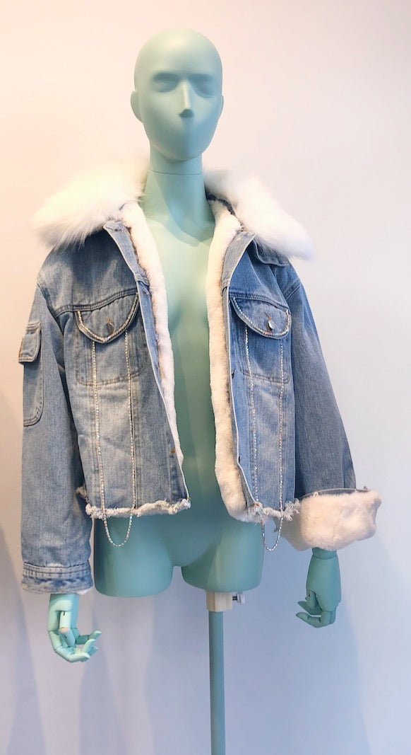Icy Fur Jacket - White