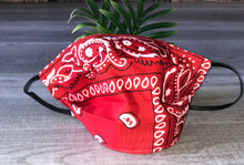 Load image into Gallery viewer, Red Bandana Face Mask