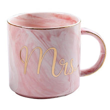 Load image into Gallery viewer, Mr and Mrs Ceramic Marble Mug