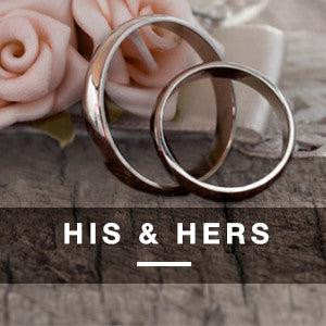 His & Hers Tungsten • Titanium • Cobalt Rings