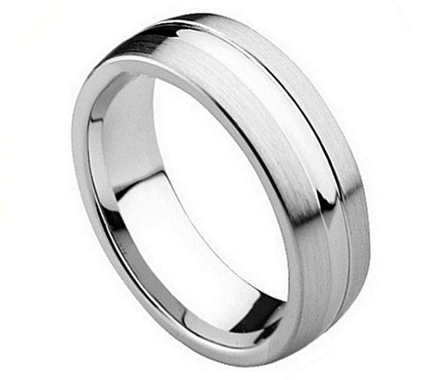 9a235280b04f2 Grooved Cobalt Wedding Bands | Tungsten Nation | Tungsten Nation ...