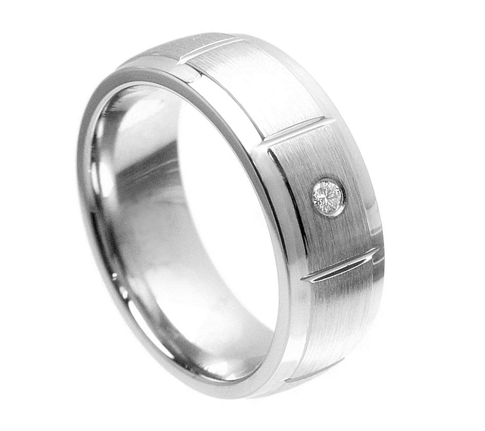 stone wedding by ring cobalt band finish rings hammer heavy garrity chrome