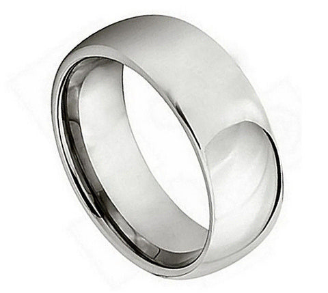 Titanium Ring High Polished Domed-7mm