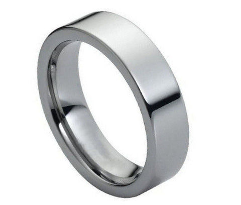 Tungsten Ring High Polish & Pipe-Cut Ring-6mm