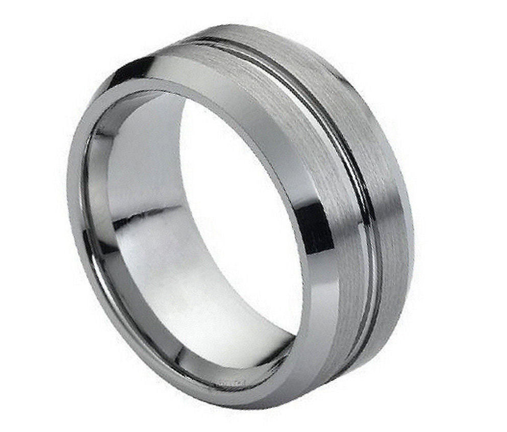 Tungsten Cross Ring With Raised Brushed Center9mm: Wedding Rings Tungsten Crosses At Websimilar.org