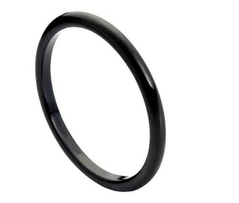 Black Tungsten Wedding Band-2mm