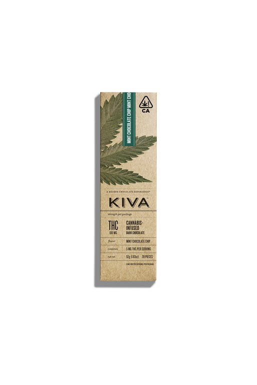 Kiva Mint Chocolate Chip Bar 100MG