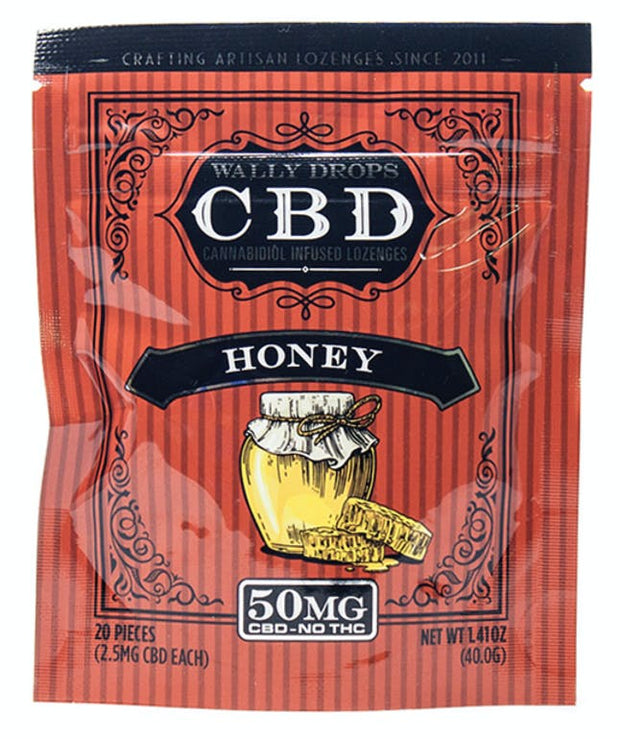 Wally Drops CBD Lozenges 50mg - Honey