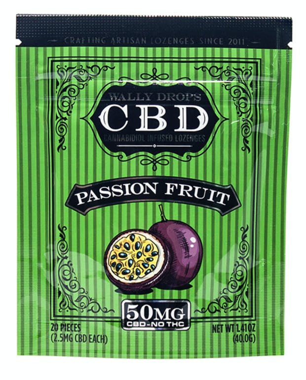 Wally Drops CBD Lozenges 50mg - Passion Fruit