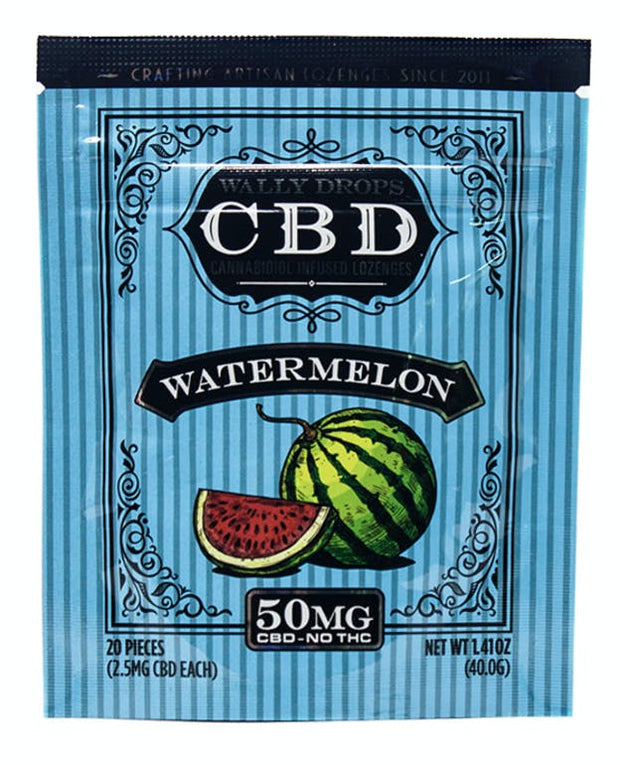 Wally Drops CBD Lozenges 50mg - Watermelon