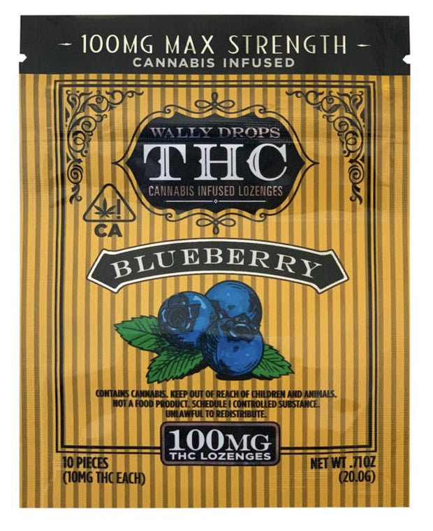 Wally Drops THC Lozenges 100mg - Blueberry