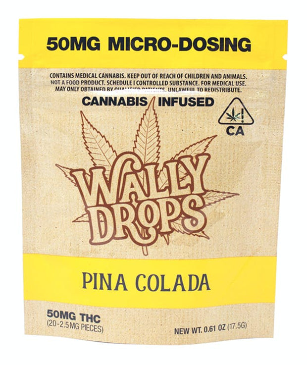 Wally Drops THC Lozenges 50mg - Piña Colada