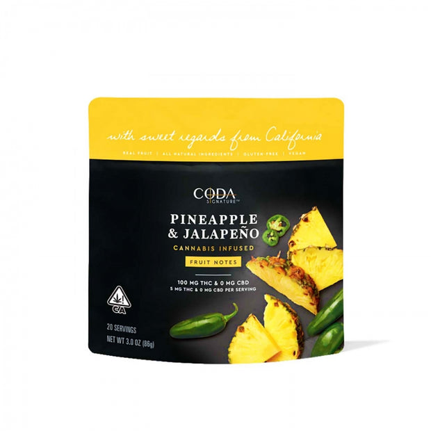 Coda Pineapple Jalapeno Gummies 100mg