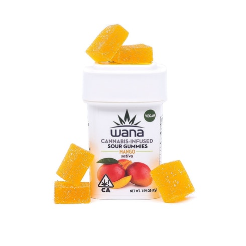 Wana Sour Sativa Mango Gummies 100mg