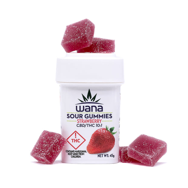 Wana Sour Gummies Strawberry 10:1 CBD