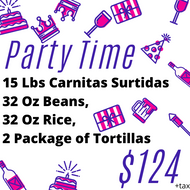 Party Time 25 People - Carnitas Uruapan