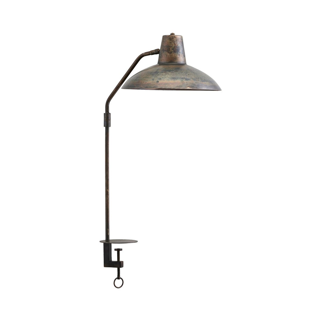 Bordlampe, Desk, Antik brun
