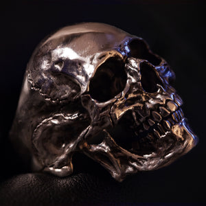 Sterling Silver Highpolished Skullring