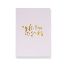 Load image into Gallery viewer, A Gift From The Gods Calligraphy Slogan Pink A5 Notebook