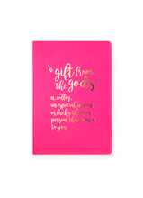 Load image into Gallery viewer, A Gift From The Gods Definition Hot Pink A6 Notebook