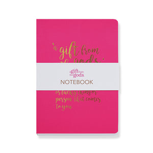 A Gift From The Gods Definition Hot Pink A6 Notebook