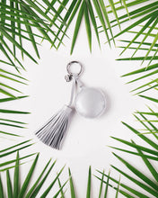 Load image into Gallery viewer, A Gift From The Gods Round Silver Tassel Keyring