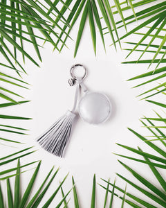 A Gift From The Gods Round Silver Tassel Keyring