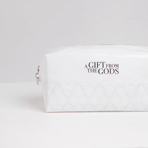 A Gift From The Gods Geo White Square Cosmetic Bag