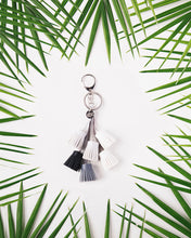 Load image into Gallery viewer, A Gift From The Gods White Tassels Keyring
