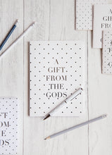 Load image into Gallery viewer, A Gift From The Gods Polka Dot White A5 Notebook