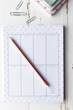 Load image into Gallery viewer, A Gift From The Gods Polka Dots White Weekly Planner