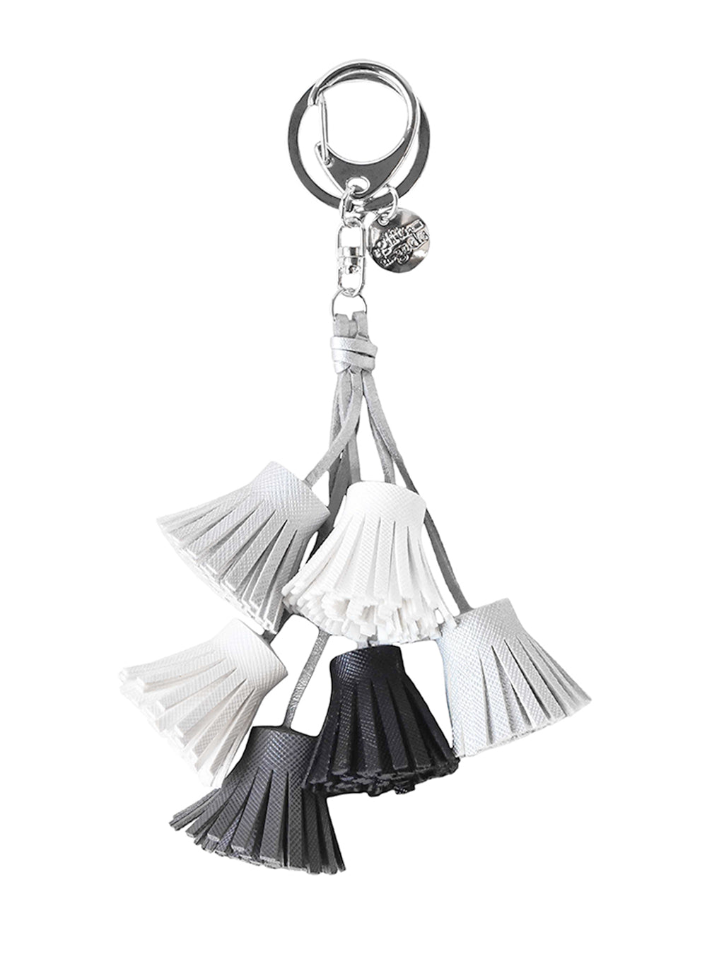 A Gift From The Gods White Tassels Keyring