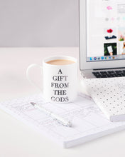 Load image into Gallery viewer, A Gift From The Gods Slogan White Mug