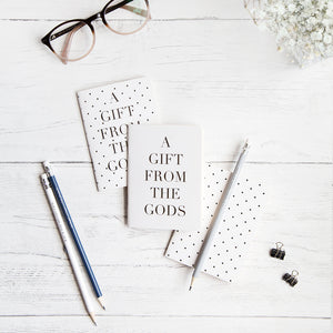A Gift From The Gods Polka Dots White Set of 3 Mini Notebooks