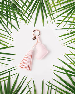 A Gift From The Gods Pink Heart Tassel Keyring