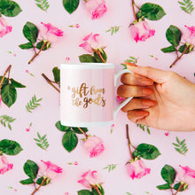 Load image into Gallery viewer, A Gift From The Gods Calligraphy Slogan Pink Mug