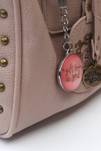 Load image into Gallery viewer, A Gift From The Gods Calligraphy Slogan Pink Keyring