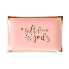 Load image into Gallery viewer, A Gift From The Gods Slogan Pink Trinket Dish