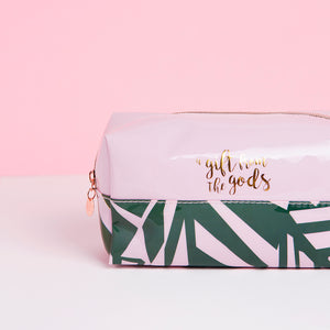 A Gift From The Gods Tropical Pink Square Cosmetic Bag