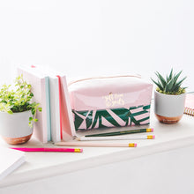 Load image into Gallery viewer, A Gift From The Gods Tropical Pink Square Cosmetic Bag