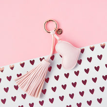 Load image into Gallery viewer, A Gift From The Gods Pink Heart Tassel Keyring