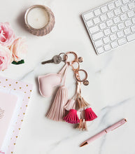 Load image into Gallery viewer, A Gift From The Gods Pink Tassels Keyring