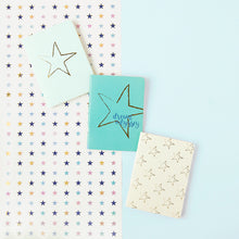 Load image into Gallery viewer, Dream Odyssey Stars Aqua Set of 3 Mini Notebooks