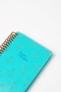 Dream Odyssey Stars Teal A6 Spiral Notebook