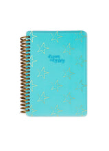 Load image into Gallery viewer, Dream Odyssey Stars Teal A6 Spiral Notebook